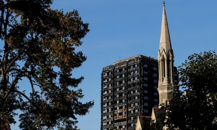 Grenfell Tower in north Kensington.