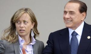 Giorgia Meloni and Silvio Berlusconi