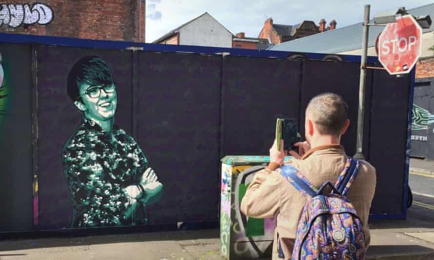 A mural of Lyra McKee in Belfast