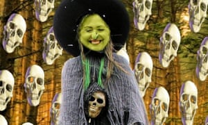 Bones of contention … montages of Hillary Clinton as a witch have flooded social media