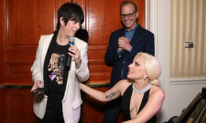 Diane Warren, Kirby Dick and Lady Gaga at the reception for The Hunting Ground