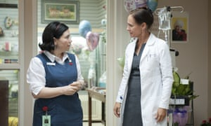 Alex Borstein, left, and Laurie Metcalf in Getting On: Metcalf is the most nominated actor at this year's Emmys.
