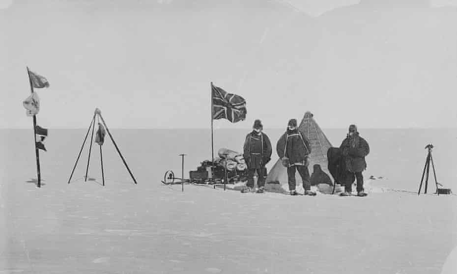 Christmas camp during the Nimrod expedition.