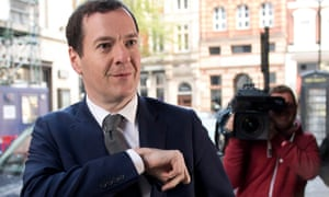 George Osborne arrives for his first day as editor of the Evening Standard in 2017 after standing down as MP for Tatton