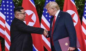 """Donald Trump repeatedly referred to Kim Jong-un as """"little rocket man"""" during a war of words last year"""