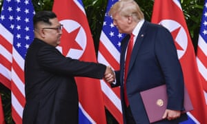 Kim Jong-un and Donald Trump meeting in Singapore