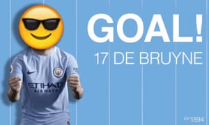 Manchester City celebrated their equaliser with this Twitter gif