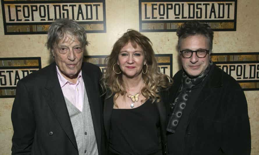 A world away .... Friedman with writer Tom Stoppard, left, and director Patrick Marber at the launch of Leopoldstadt in February this year.