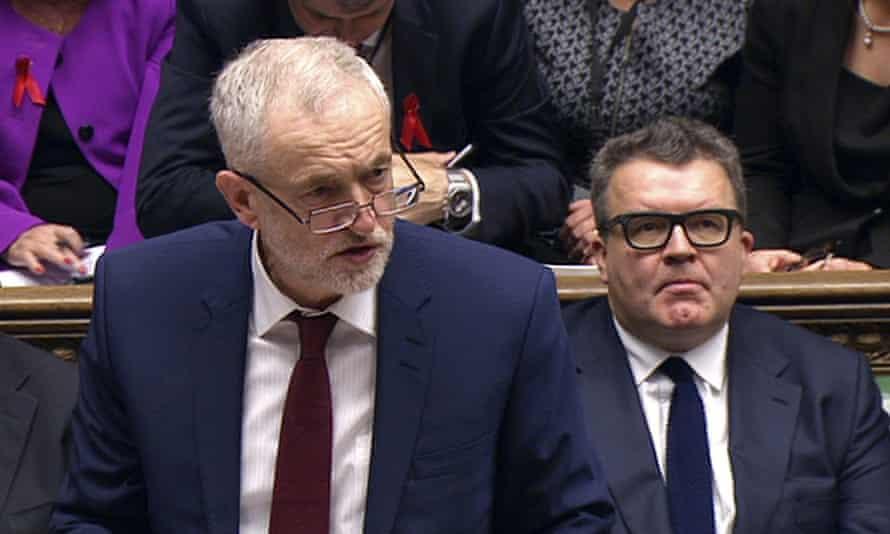 Jeremy Corbyn speaking in parliament