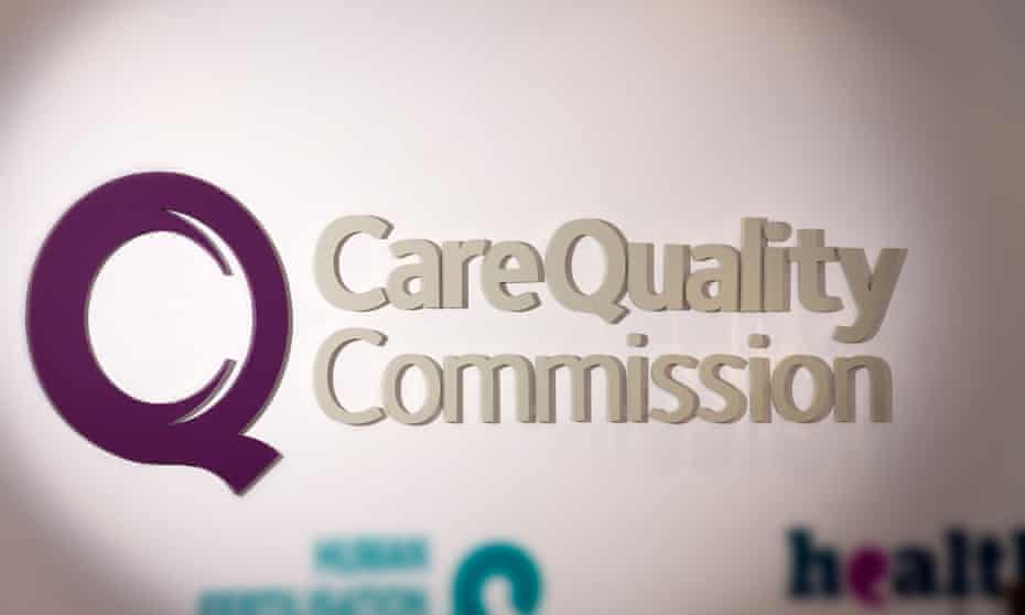 Care Quality Commission logo on a wall