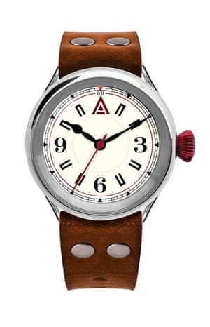 Watch with brown starp
