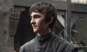 Isaac Hempstead Wright as Bran Stark on Game of Thrones.