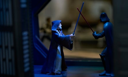 The light side battles the dark side.