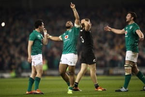 The relentless Bundee Aki points to the heavens at the final whistle.