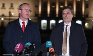 Irish foreign affairs minister Simon Conveney (left) and Northern Ireland secretary Julian Smith (right)