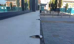 Bristol's skatestoppers appear on ledges, benches, walls and more.