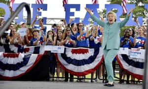 Hillary Clinton in Florida, a swing state, on the Saturday before election day.
