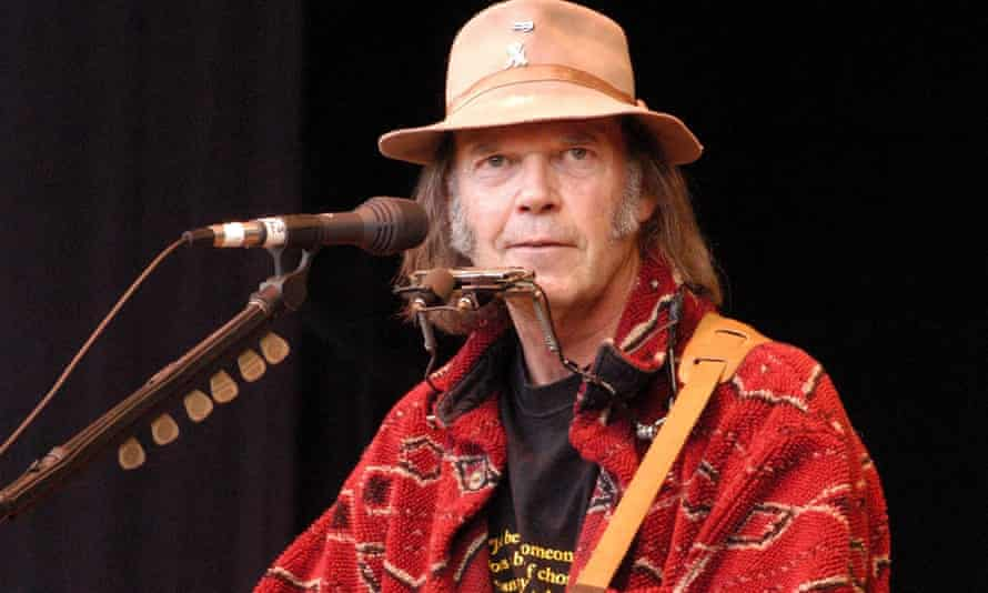 Neil Young on stage