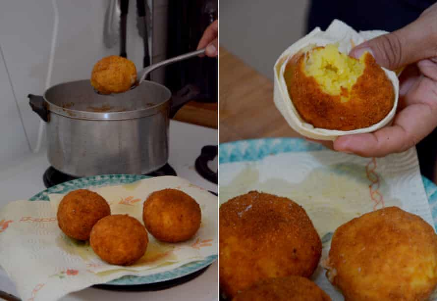 Thanks Allota: arancine, Sicilian style (if not this year in reality).