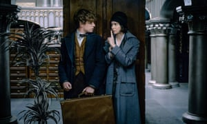 Eddie Redmayne and Katherine Waterston in the 'frantically busy' Fantastic Beasts and Where to Find Them