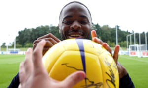 Euro 2020 Qualifier - England Training<br>Soccer Football - Euro 2020 Qualifier - England Training - St. George's Park, Burton upon Trent, Britain - September 2, 2019   England's Raheem Sterling signs his autograph on a football during training   Action Images via Reuters/Carl Recine         TPX IMAGES OF THE DAY