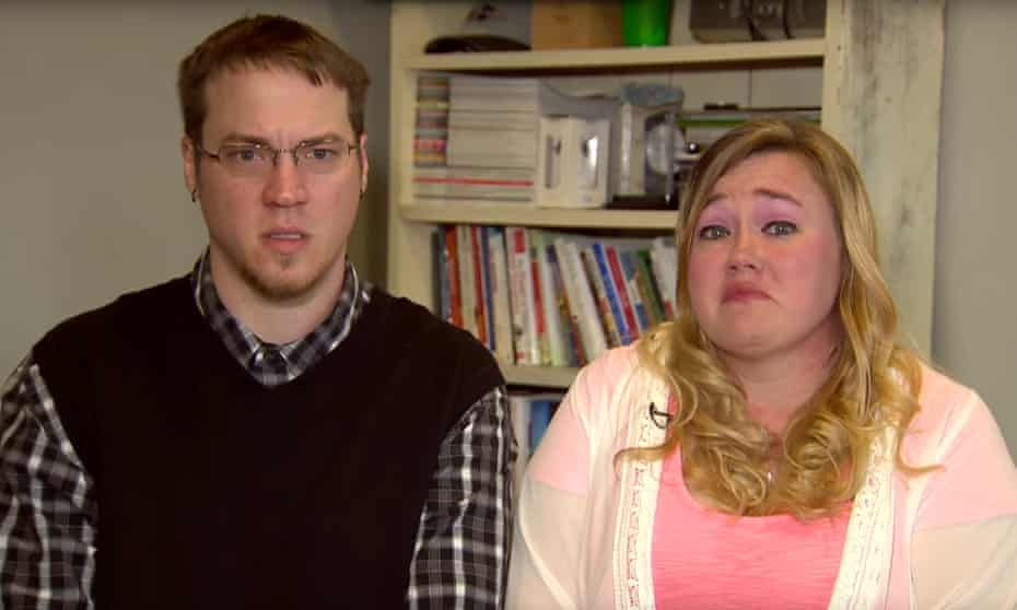 Michael and Heather Martin apologising for pranks last year.