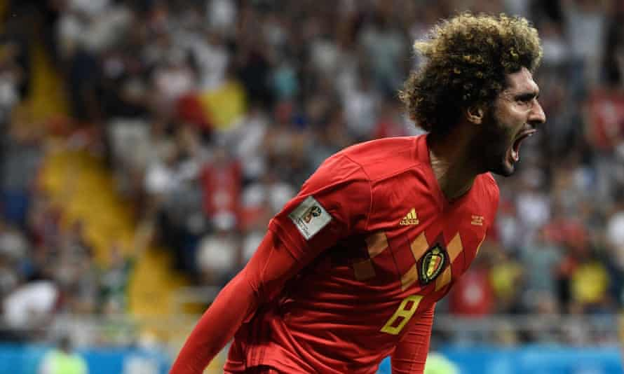 Marouane Fellaini will hope he has played his way into the Belgium team for the Brazil match.