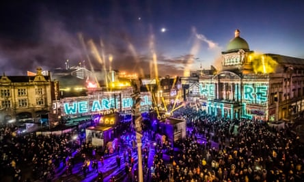 The official opening night of Hull's city of culture year, featuring an installation entitled We Are Hull.