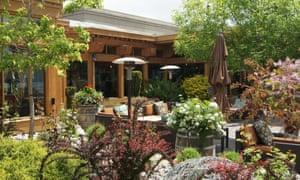 A garden area at Quails' Gate.