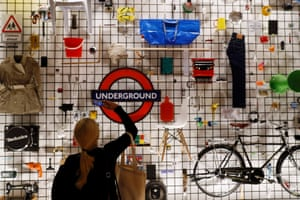 London, England: A visitor looks at exhibits at the Design Museum