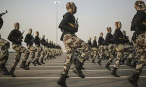 Saudi security forces taking part in a military parade in September 2015