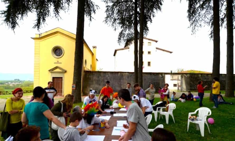 A summer camp event in Villaggio La Brocchi