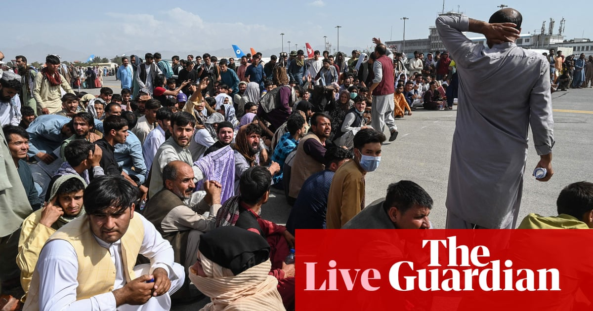 Afghanistan live news: US says Kabul airport has reopened as Taliban patrol city