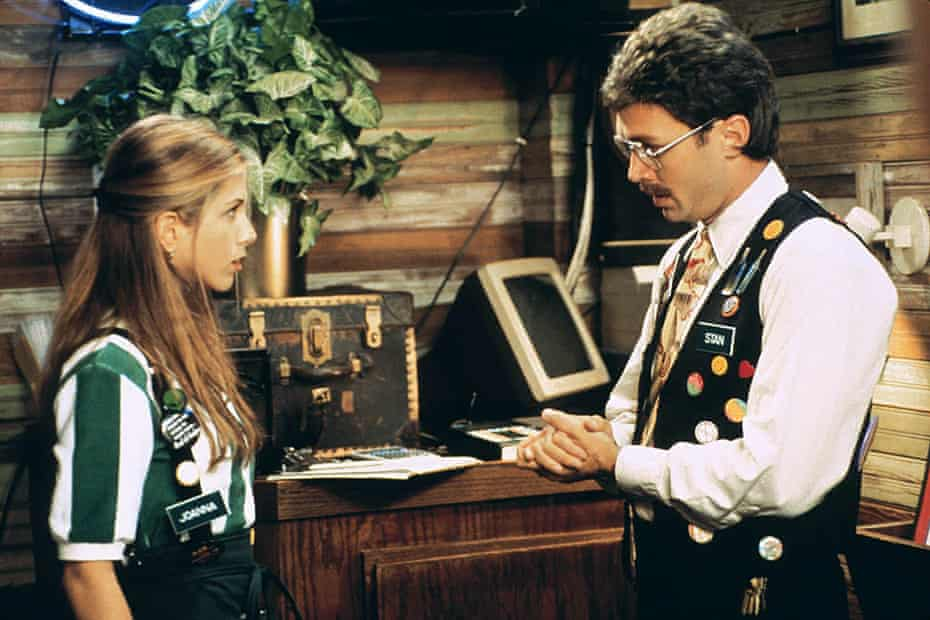 Jennifer Aniston and Mike Judge in Office Space