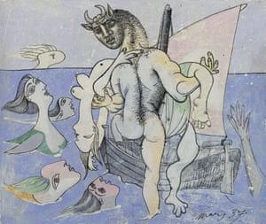 Minotaure dans une barque sauvant une femme, March 1937 (Paris) by Pablo Picasso