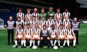 The West Brom squad pose before the 1985-86 season with manager Johnny Giles.