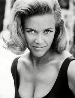 Honor Blackman in a publicity shot for Goldfinger
