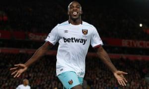 Michail Antonio was injured in West Ham's win over Swansea.