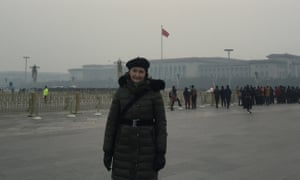 China scholar Anne-Marie Brady in Tiananmen Square, Beijing, China.