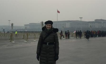 China scholar Anne-Marie Brady in Tiananmen Square, Beijing, China.