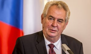 The Czech president Miloš Zeman