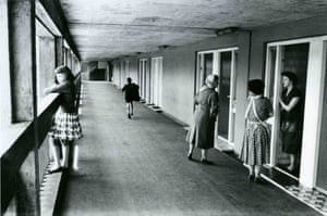Community spirit … women stop to chat at Park Hill estate, Sheffield, in 1961.