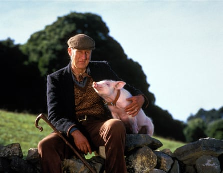 Unexpected hit … Cromwell as Farmer Hoggett in Babe, which reviewers were forced to watch.