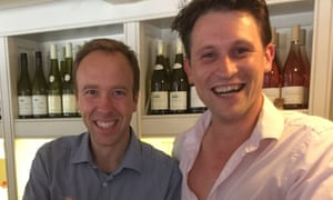 Matt Hancock and Alex Bourne, who contacted the health minister via WhatsApp to offer his services.