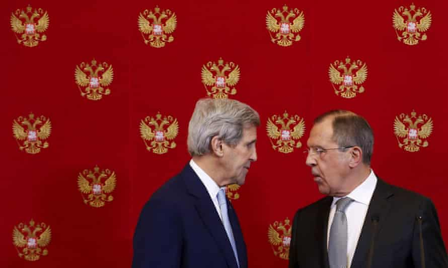John Kerry meets with Russian foreign minister Sergey Lavrov in Moscow on Tuesday.