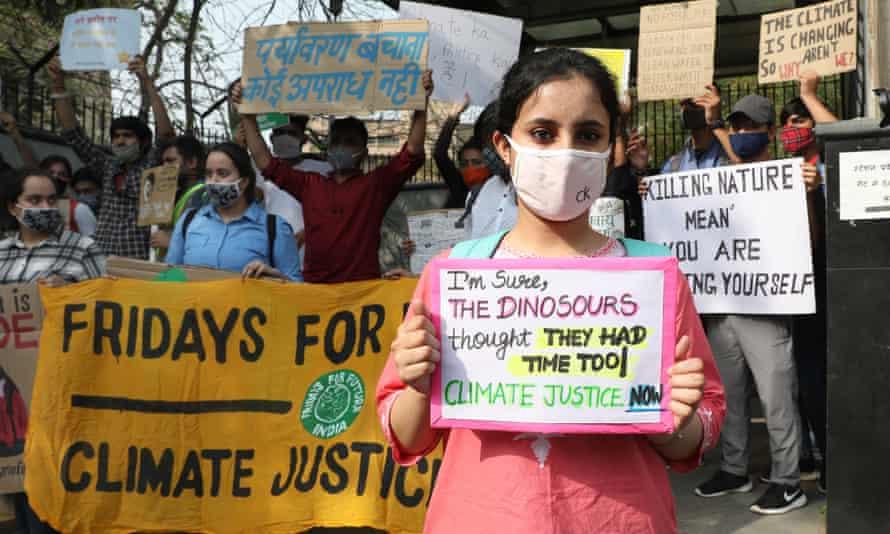 Fridays for Future protesters in New Delhi, India.