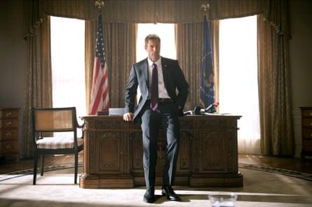 Aaron Eckhart as Benjamin Asher in Olympus Has Fallen.