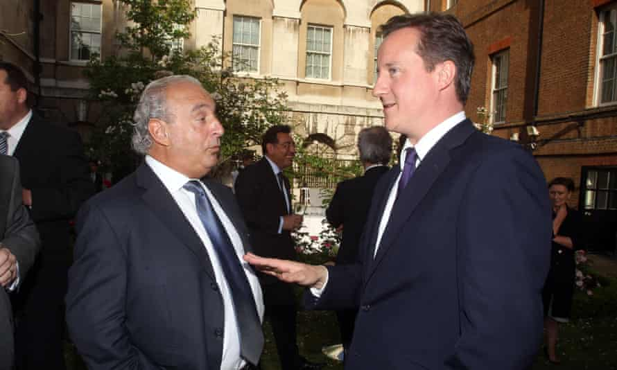 Philip Green and David Cameron in 2010.