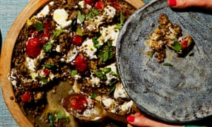 Yotam Ottolenghi's puy lentils with roasted aubergine, tomatoes and yoghurt