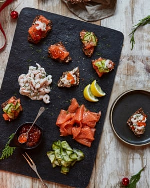 Easy Scandi seafood platter